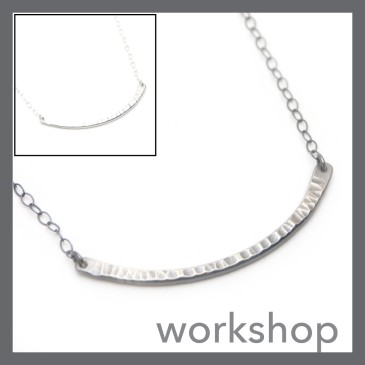 Forged Bar Necklace at The Smithery