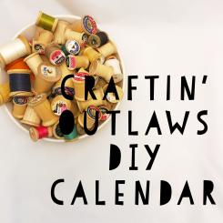 Craftin' Outlaws DIY Calender