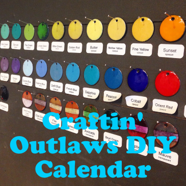 Craftin' Outlaws DIY calendar