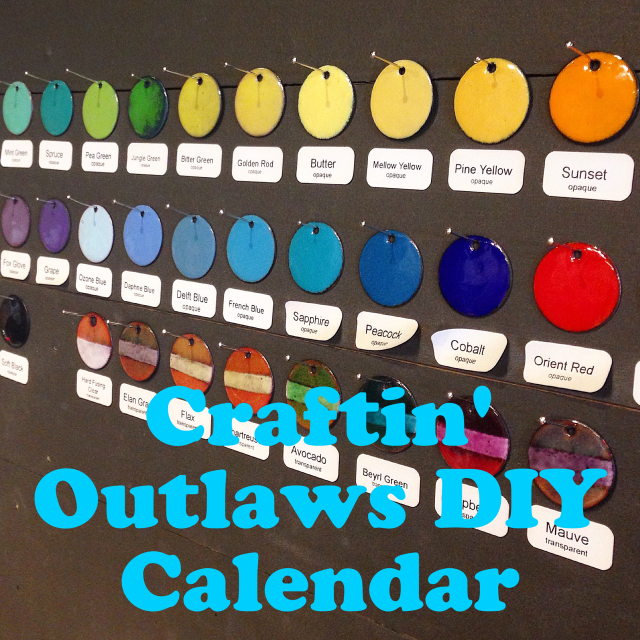 Craftin' Outlaws DIY calendar
