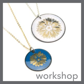 Gold Decal Enamel Necklace at The Smithery