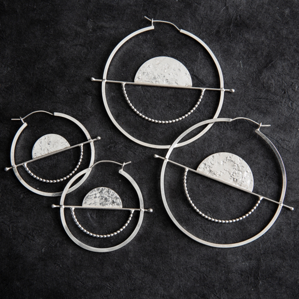 Glass Sky Jewelry_Full Balance Hoops