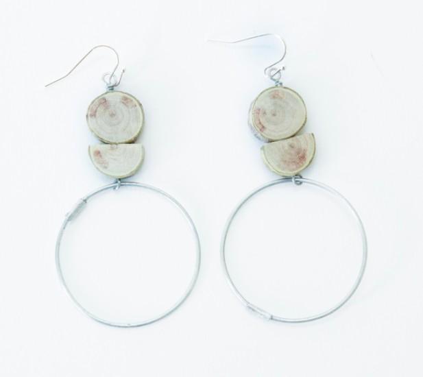 Connie De Jong - LS74E circle song earrings