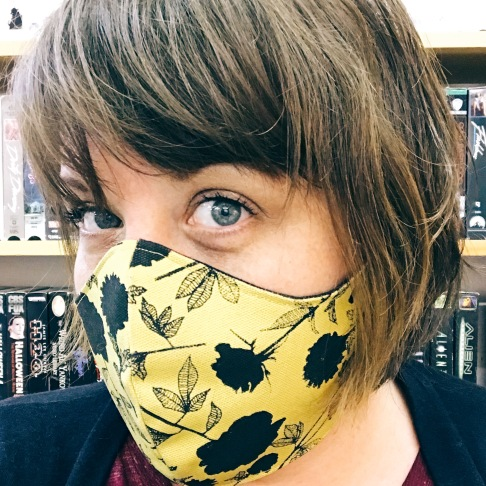 Hand-printed canvas masks, two buying options; $20 for 1 / $30 for Buy One - Donate One https://alisonrose.com/products/hand-printed-fabric-cotton-face-covering https://alisonrose.com/products/hand-printed-fabric-cotton-face-covering